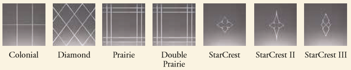 V-Grooved Cut Glass pattern will lend a touch of elegance to your Colorado Springs Windows and Doors